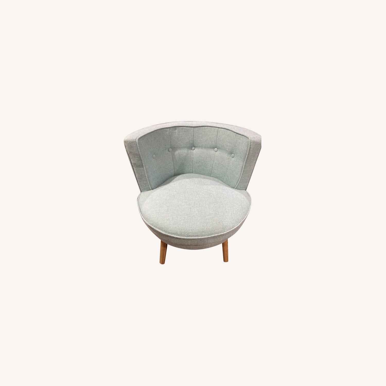 Home Goods Light Blue Comfy Slipper Chair - image-0