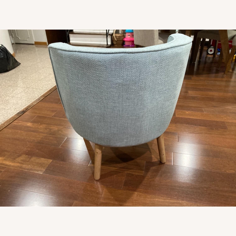 Home Goods Light Blue Comfy Slipper Chair - image-2