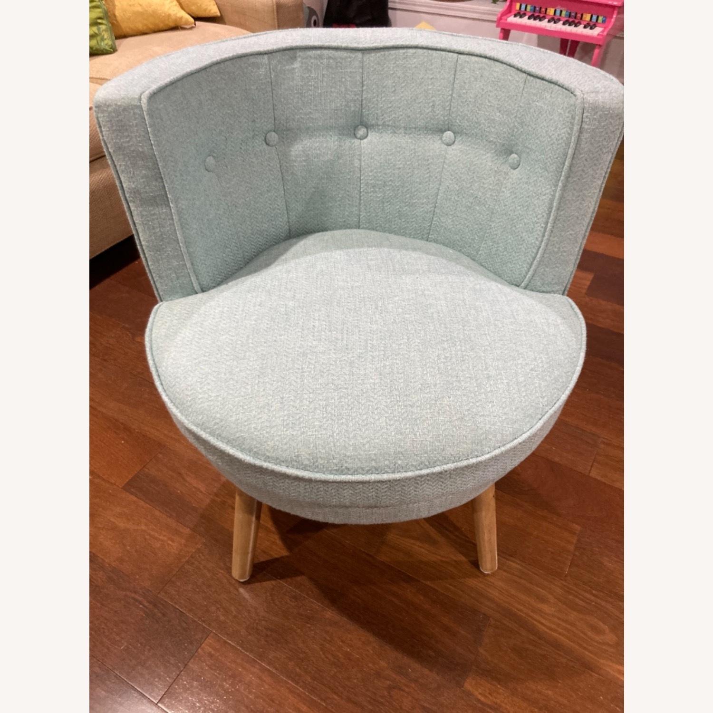 Home Goods Light Blue Comfy Slipper Chair - image-1