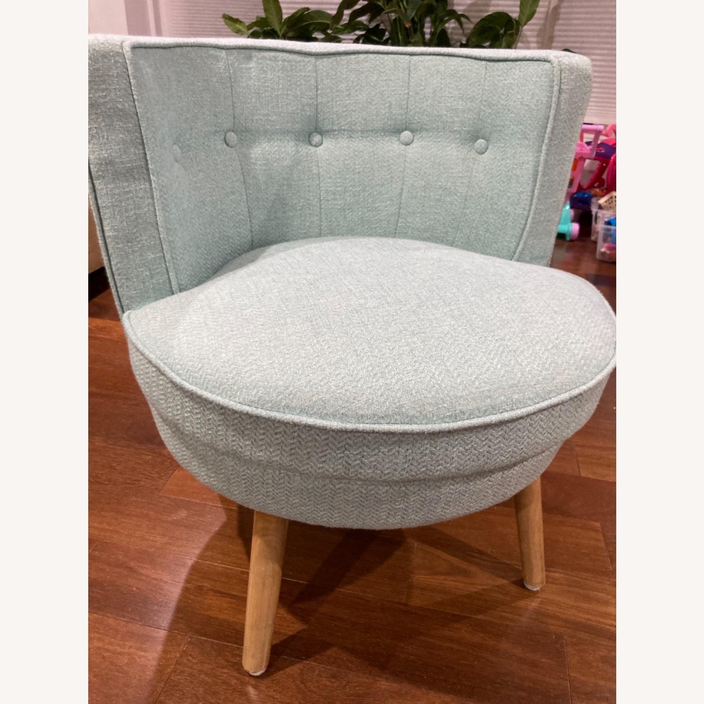 Home Goods Light Blue Comfy Slipper Chair - image-3