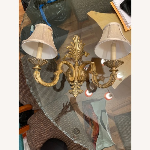 Used Gold and Natural Wall Sconce for sale on AptDeco