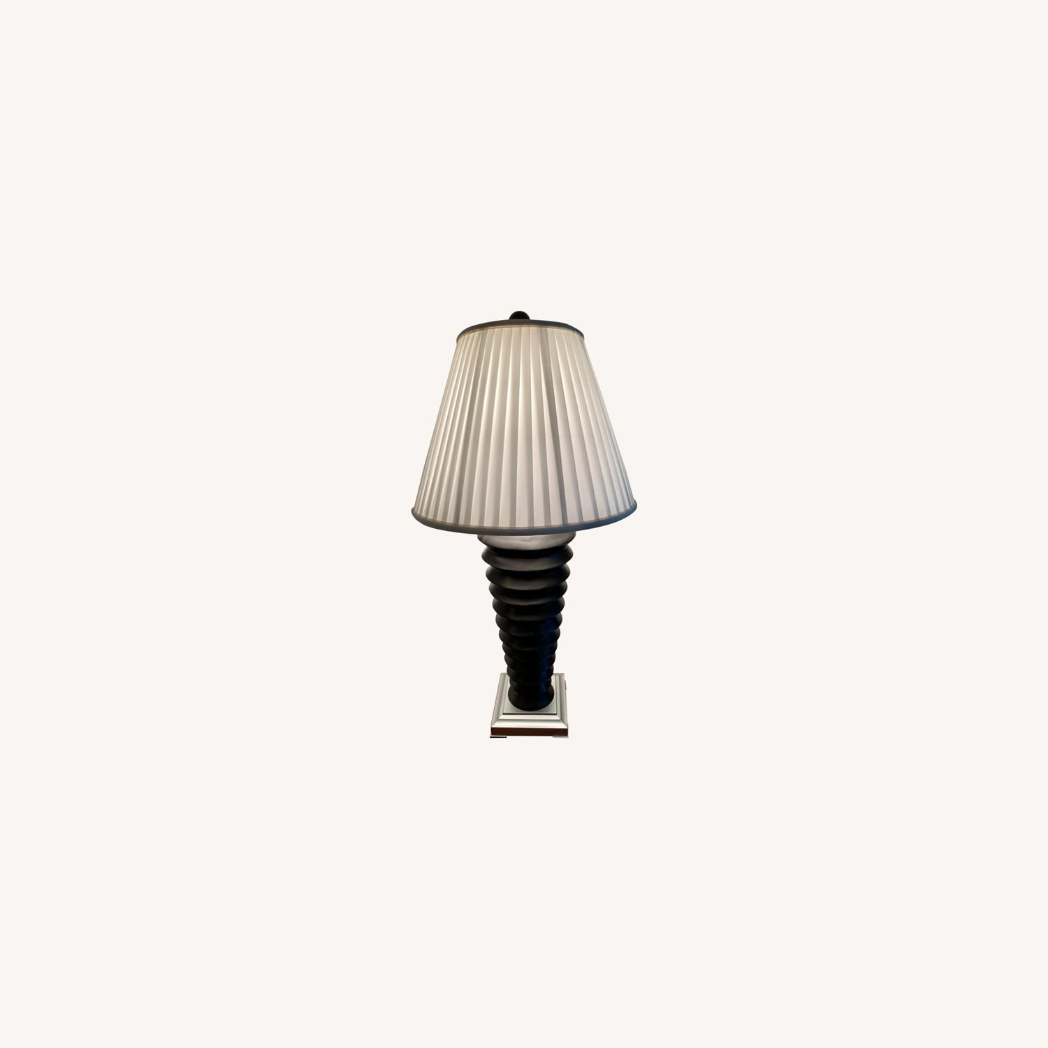 Black and White Nightstand Lamps - image-0