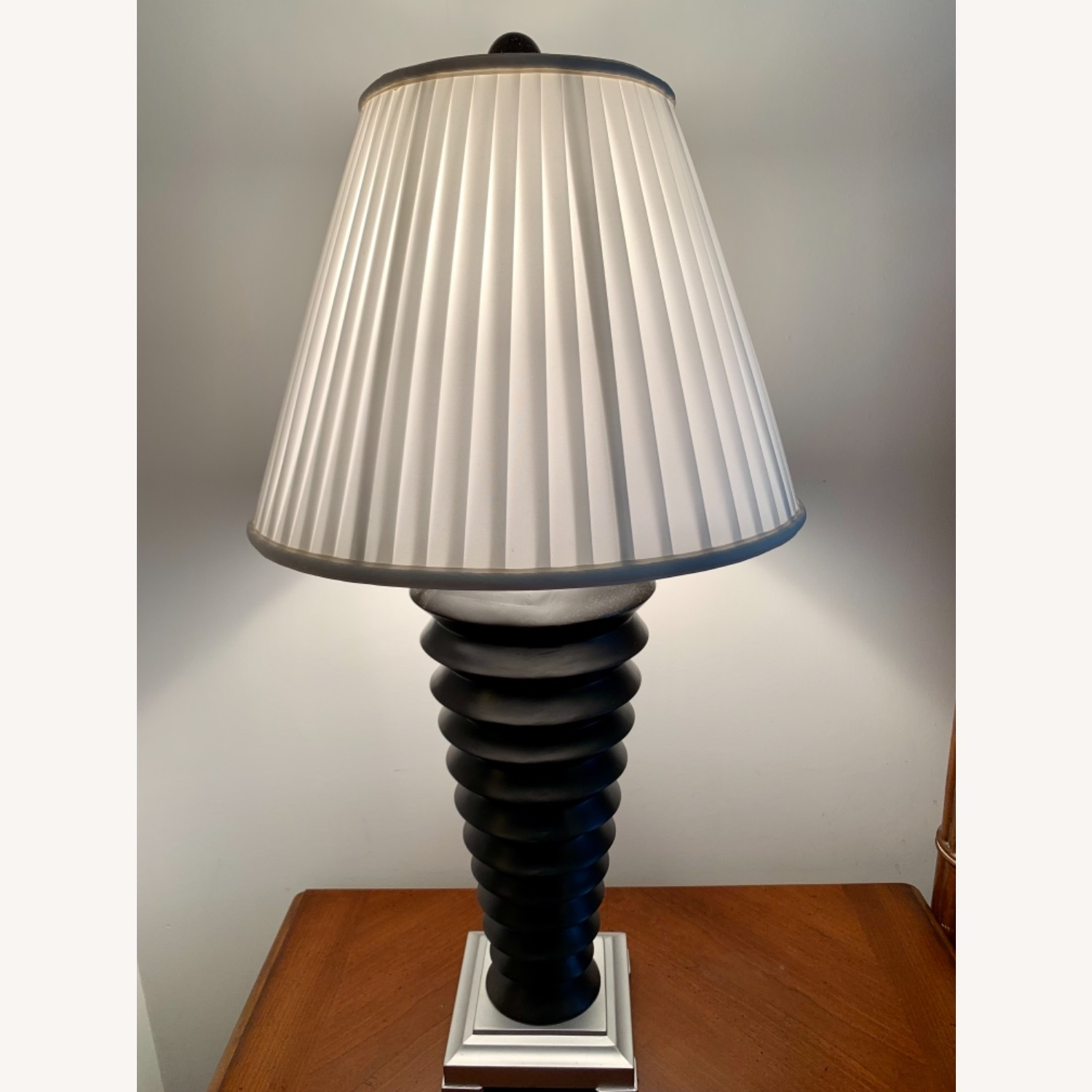 Black and White Nightstand Lamps - image-1