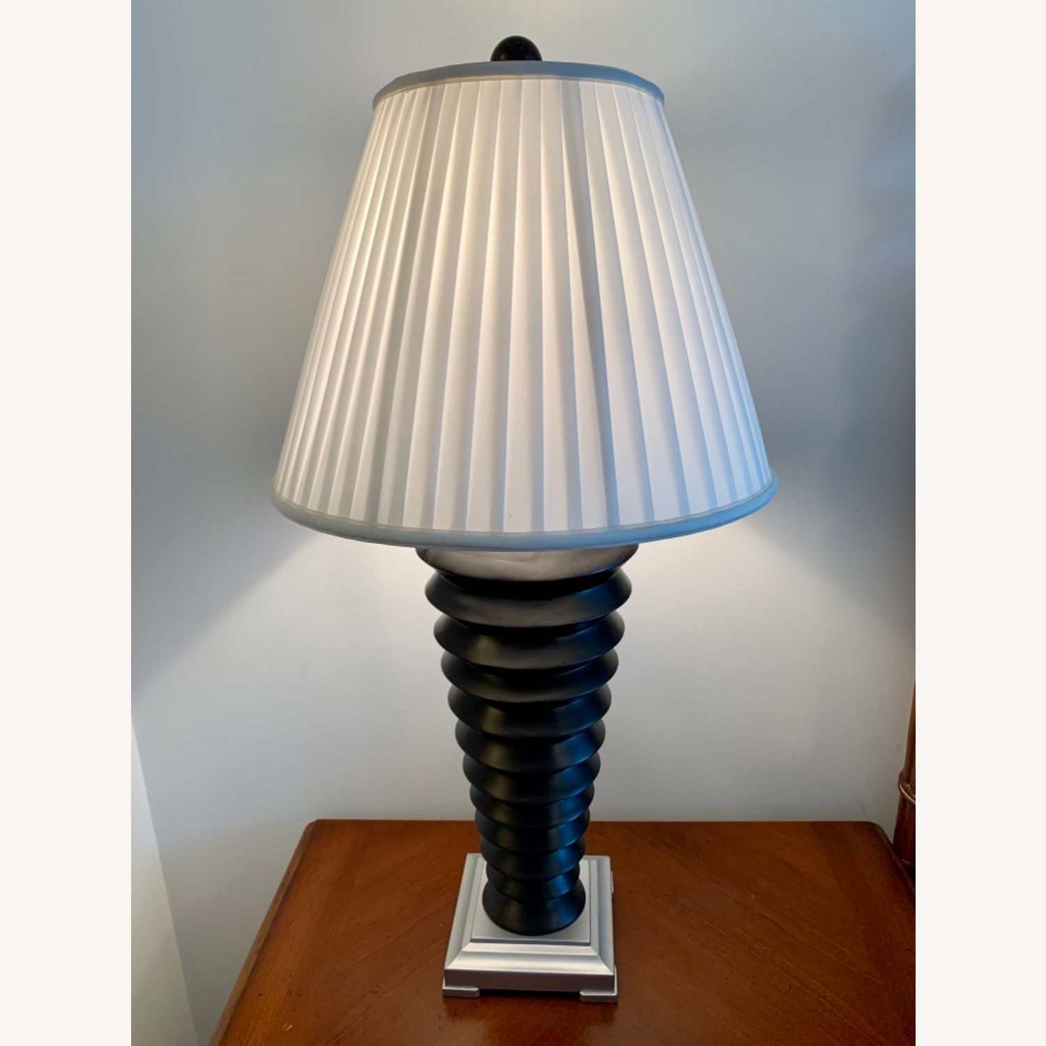 Black and White Nightstand Lamps - image-2