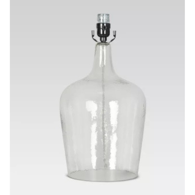 Target Artisan Glass Jug Large Lamp Base: Clear - image-4