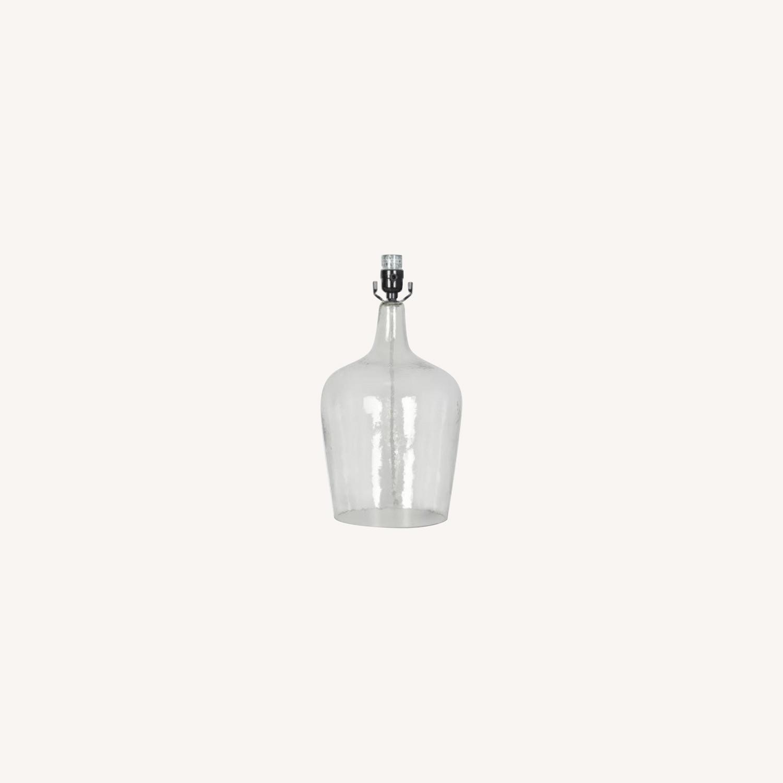 Target Artisan Glass Jug Large Lamp Base: Clear - image-0