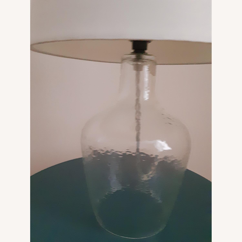 Target Artisan Glass Jug Large Lamp Base: Clear - image-1