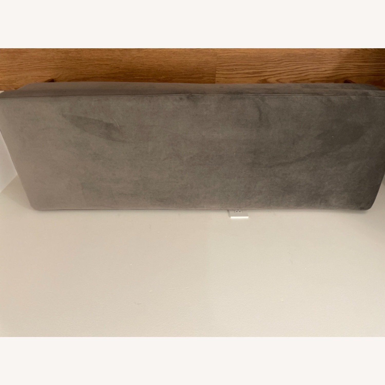 AllModern Gray Velvet Upholstered Bench - image-2