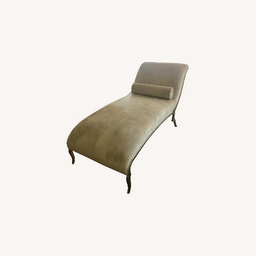 Used Contemporary Tan Velvet Chaise Longue for sale on AptDeco