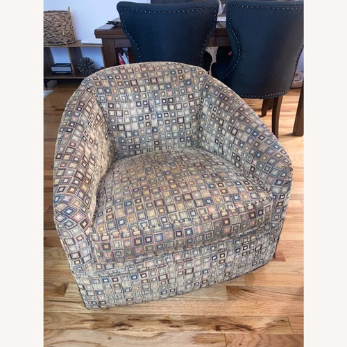 Used Maurice Villency Swivel Club Lounge Chair for sale on AptDeco