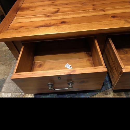 Used Crate & Barrel Wood Coffee Table for sale on AptDeco