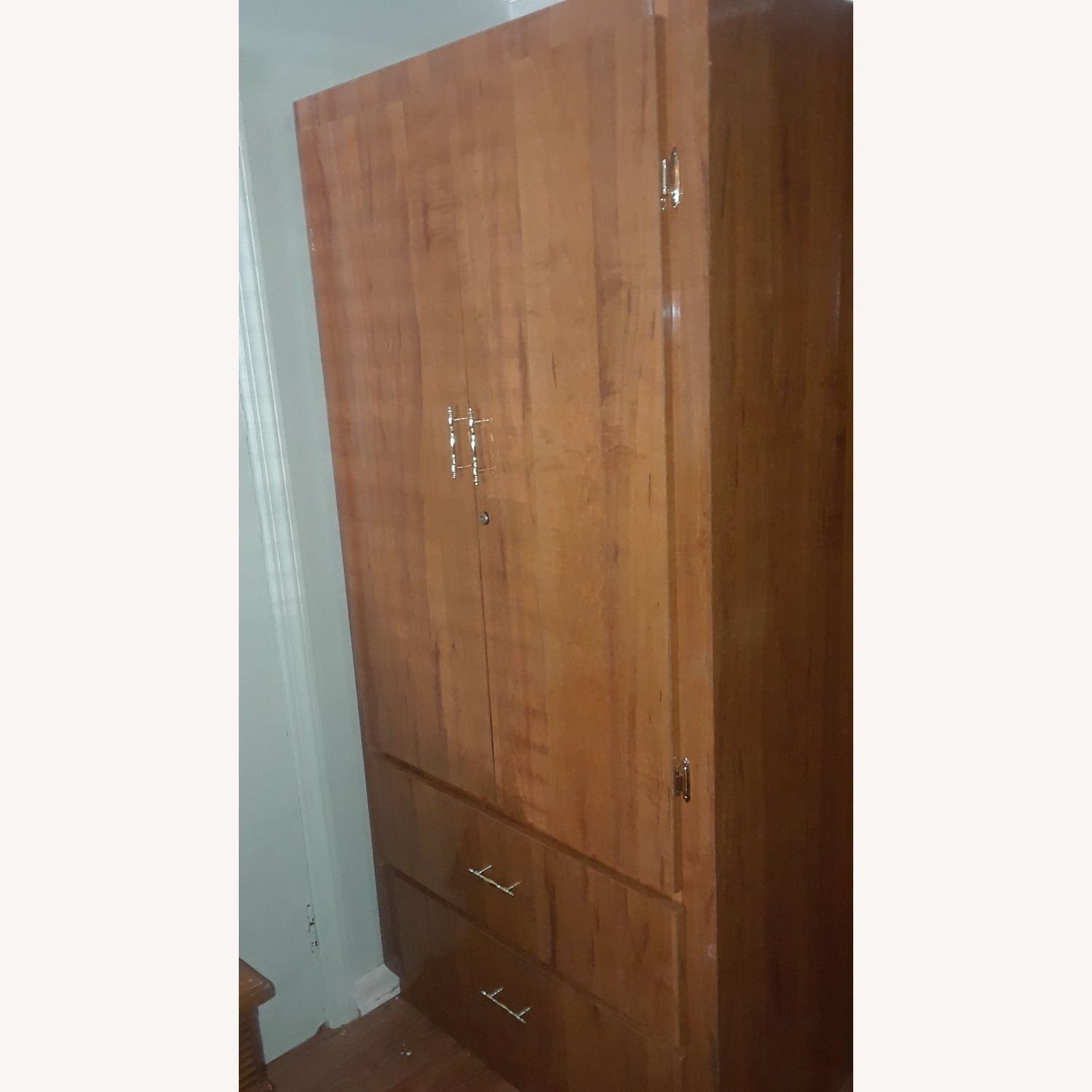Armoire / Wardrobe with 2 Drawers - image-1