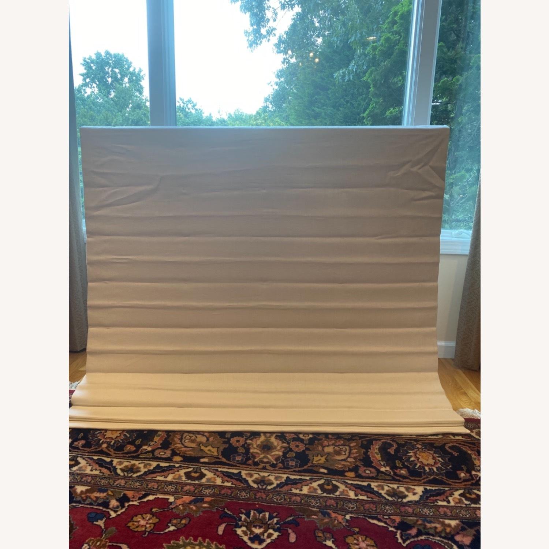 Restoration Hardware White Linen Roman Shade - image-1