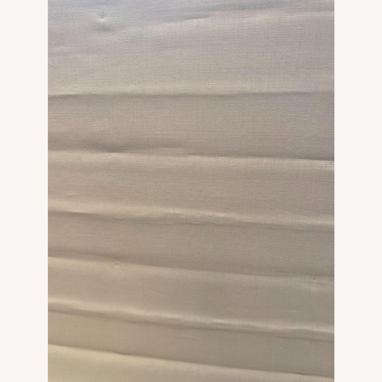 Restoration Hardware White Linen Roman Shade - image-3