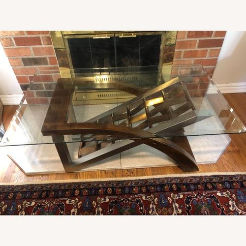 Used Ashley Furniture Glass Coffee Table for sale on AptDeco