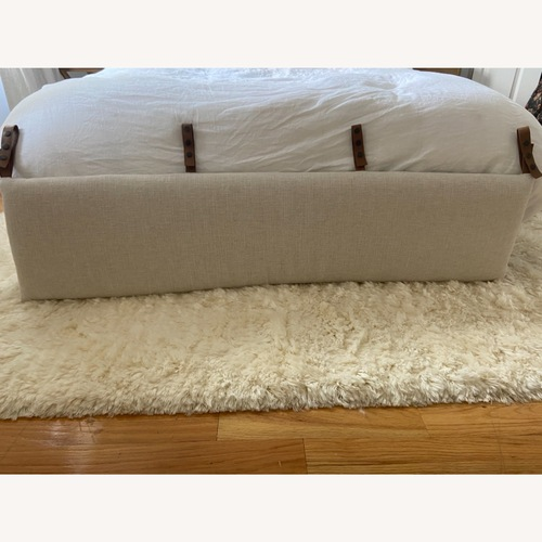 Used Anthropologie Hemming Linen Headboard Cushion for sale on AptDeco