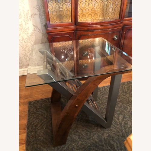 Used Ashley Furniture Matching Glass Side Tables for sale on AptDeco