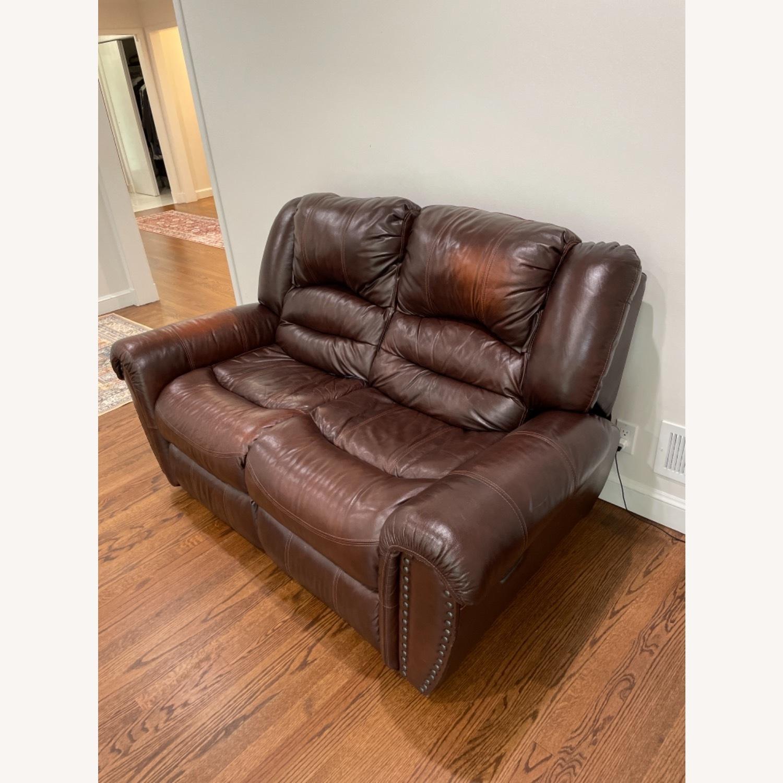 La-Zy Boy Recliner Leather Sofa - image-3
