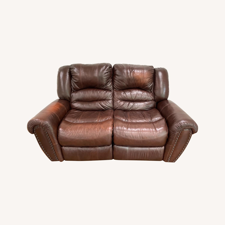 La-Zy Boy Recliner Leather Sofa - image-0
