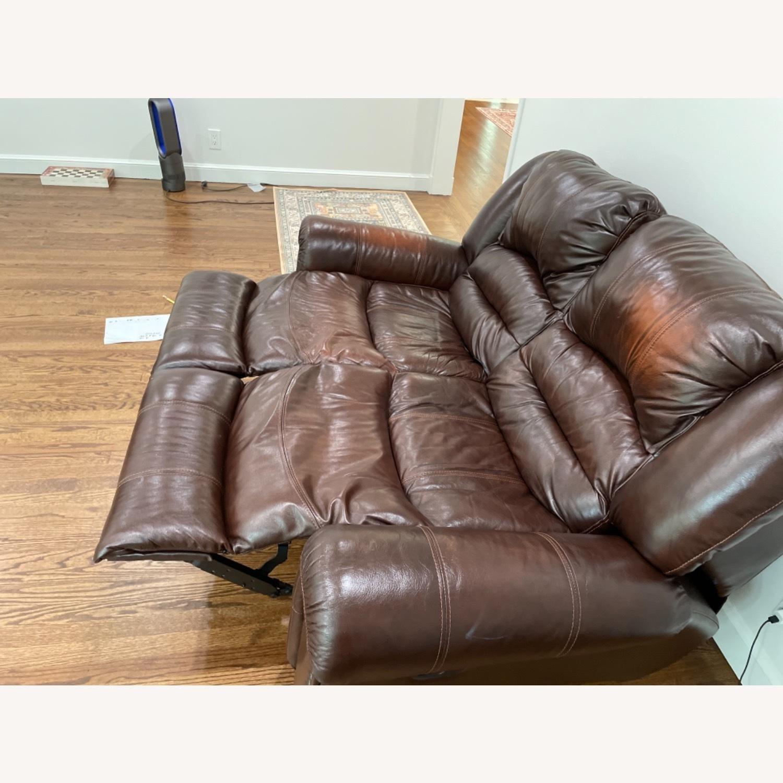 La-Zy Boy Recliner Leather Sofa - image-4