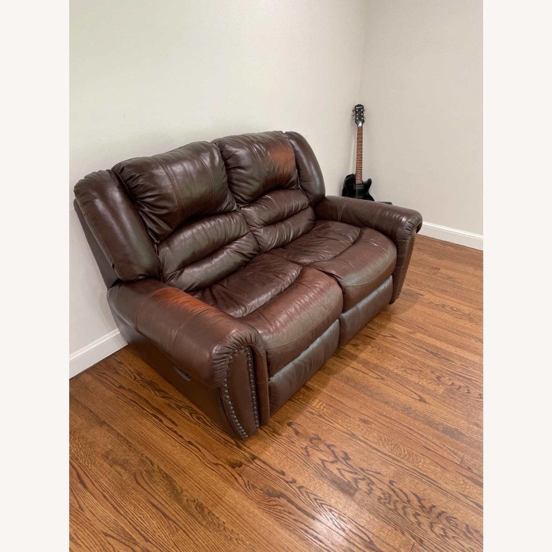 La-Zy Boy Recliner Leather Sofa - image-2