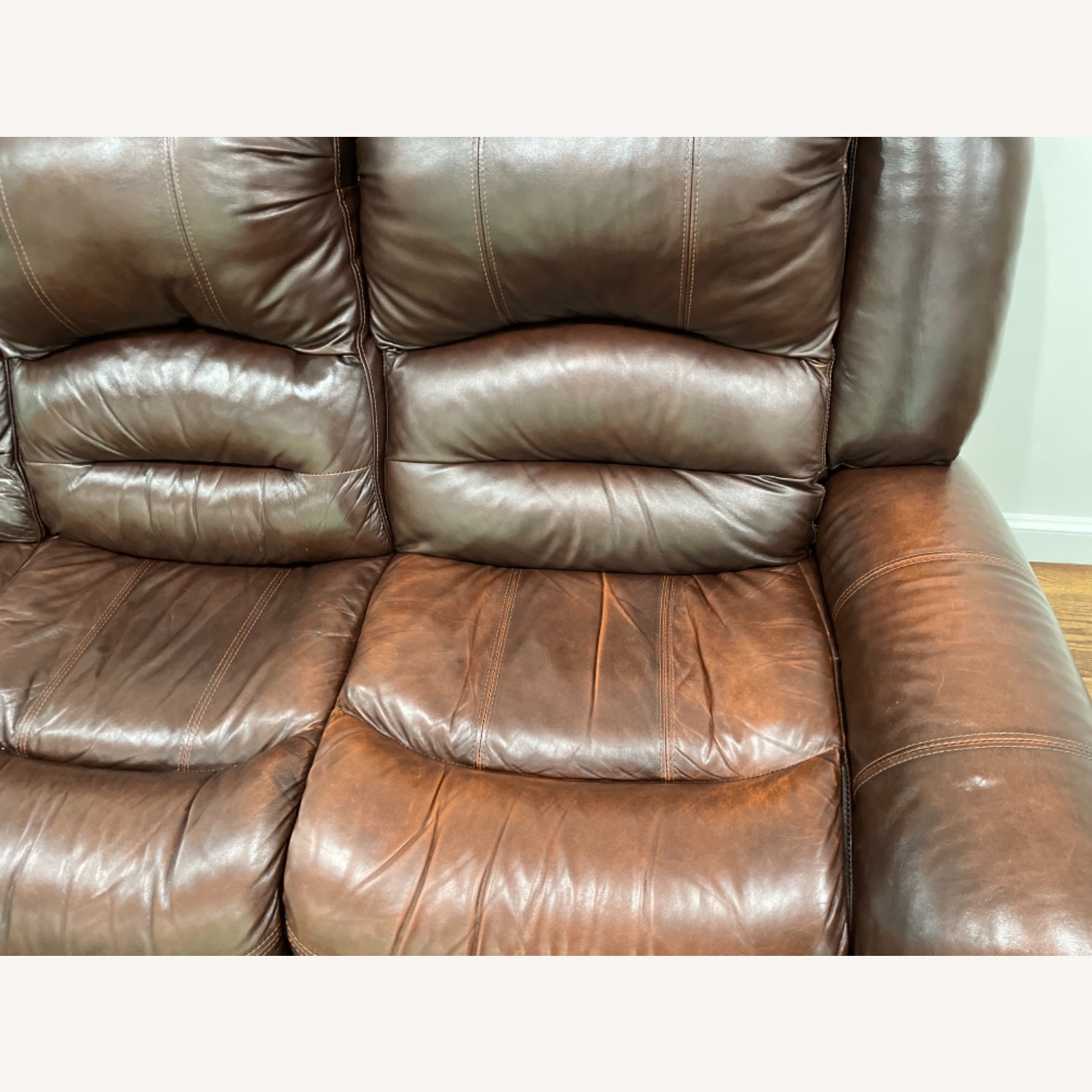 La-Z-Boy 3 Seat Leather Sofa and Recliner - image-4