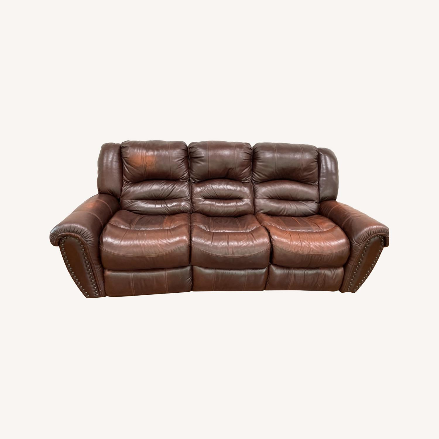 La-Z-Boy 3 Seat Leather Sofa and Recliner - image-0