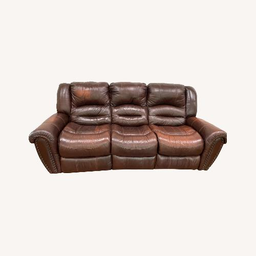 Used La-Z-Boy 3 Seat Leather Sofa and Recliner for sale on AptDeco