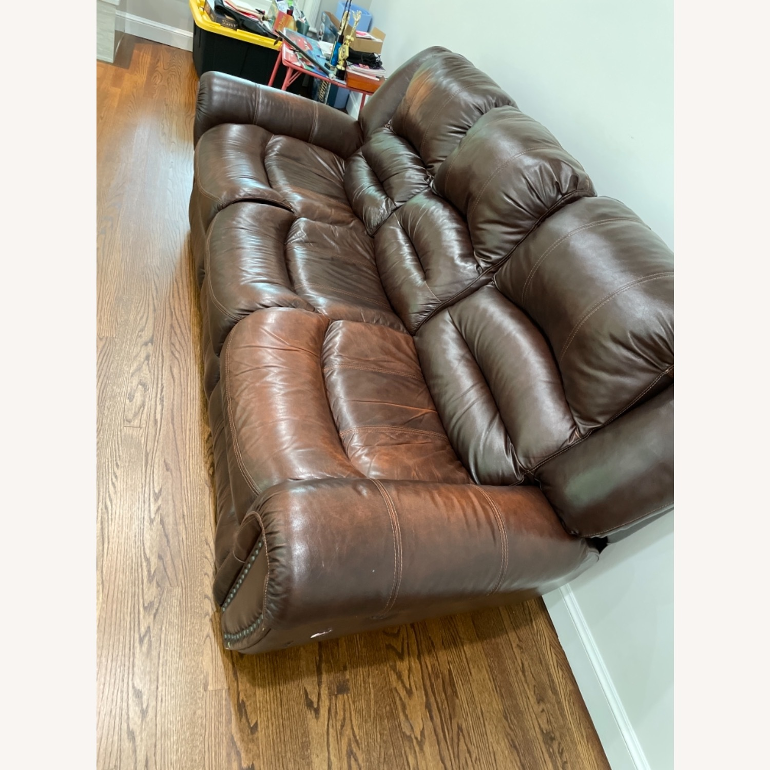 La-Z-Boy 3 Seat Leather Sofa and Recliner - image-3