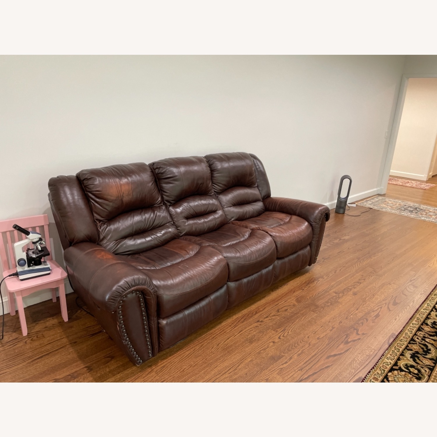 La-Z-Boy 3 Seat Leather Sofa and Recliner - image-2