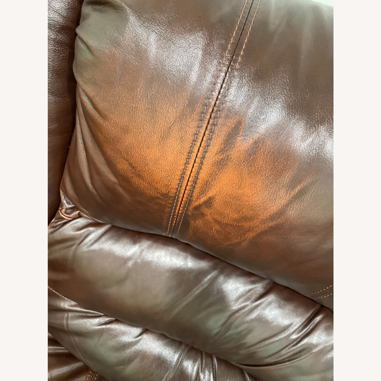 La-Z-Boy 3 Seat Leather Sofa and Recliner - image-5