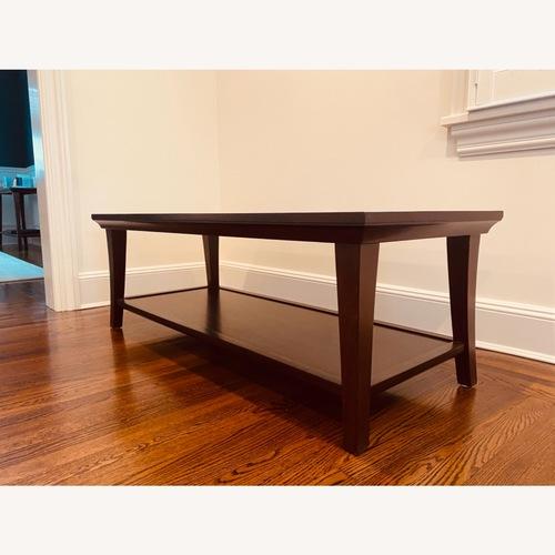 Used Pottery Barn Wood Coffee Table for sale on AptDeco