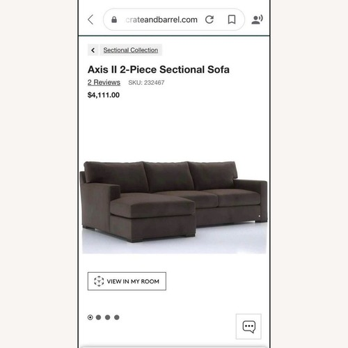 Used Crate & Barrel Axis II Sectional Sofa for sale on AptDeco