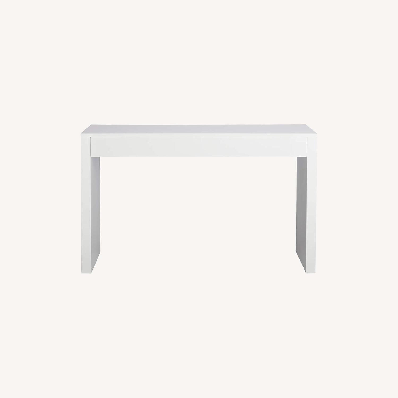 CB2 Runway White Lacquer Desk - image-0