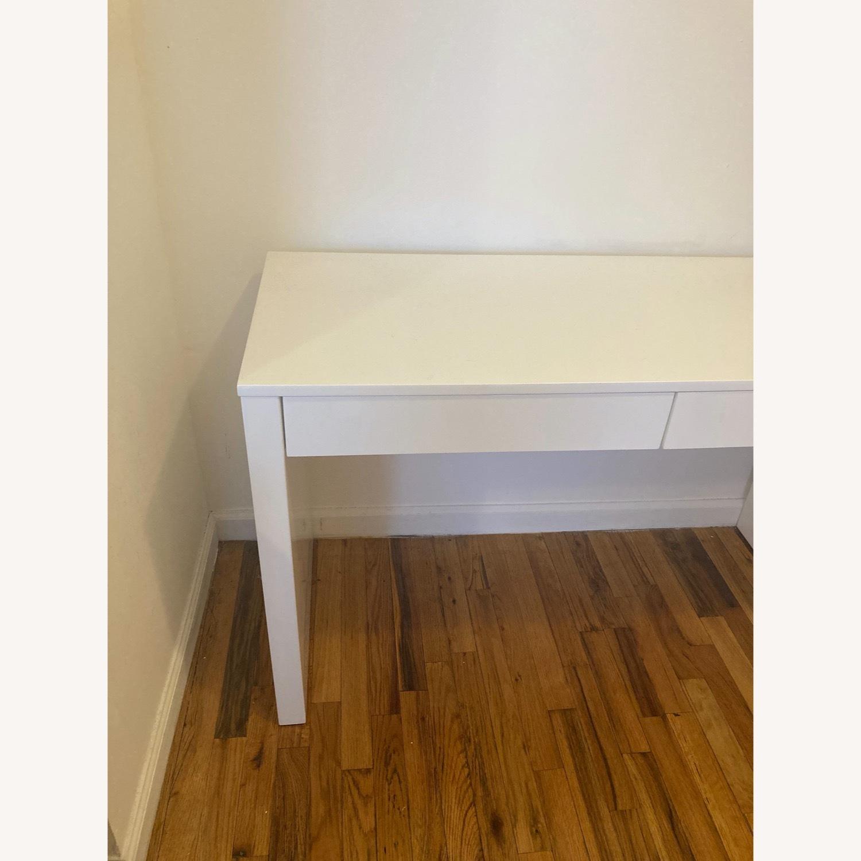 CB2 Runway White Lacquer Desk - image-4