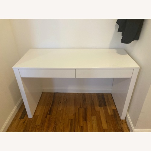 Used CB2 Runway White Lacquer Desk for sale on AptDeco