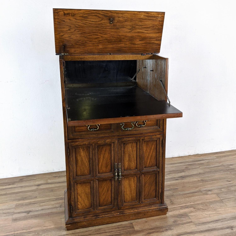 Vintage Lane Bar Cabinet - image-3