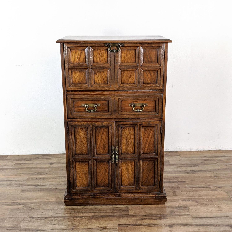 Vintage Lane Bar Cabinet - image-4