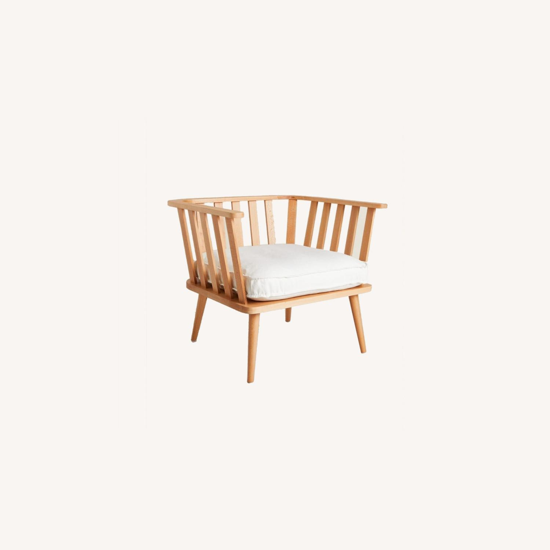 Zara Home Modern White Accent Chair - image-0