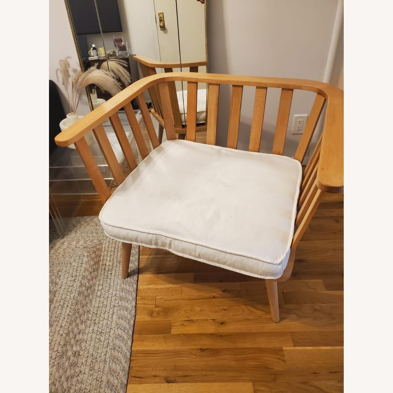 Zara Home Modern White Accent Chair - image-5