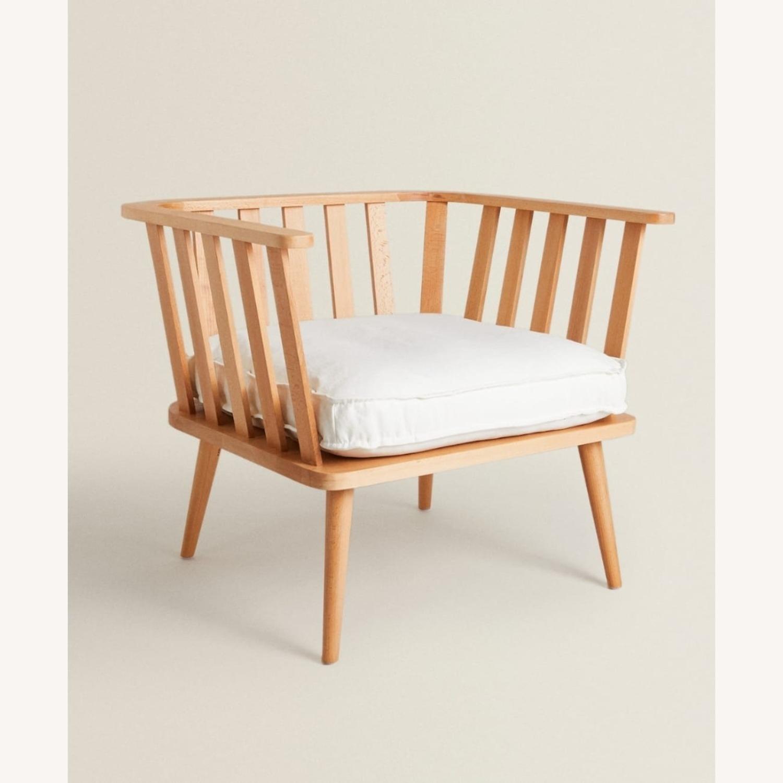 Zara Home Modern White Accent Chair - image-1