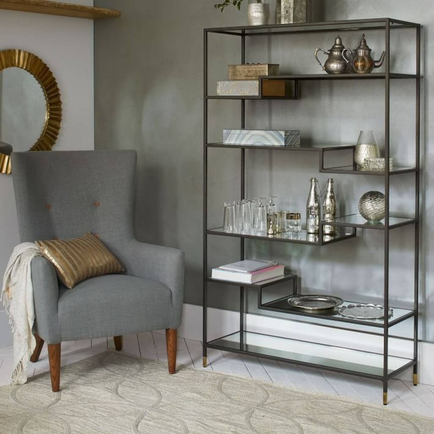 West Elm Tiered Tower Bookcase - image-1