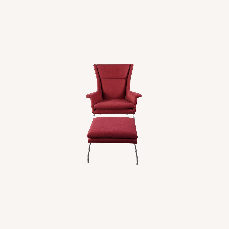 Room & Board Aidan Chair and Ottoman - image-0