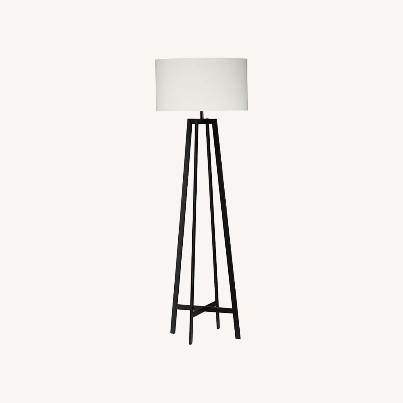 Crate & Barrel Castillo Black Floor Lamp - image-0