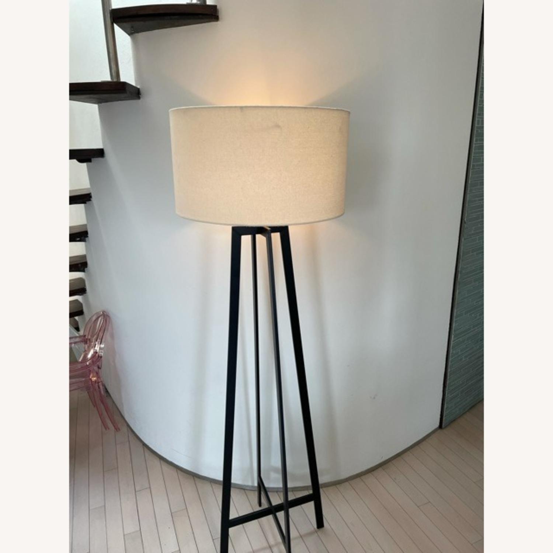 Crate & Barrel Castillo Black Floor Lamp - image-5