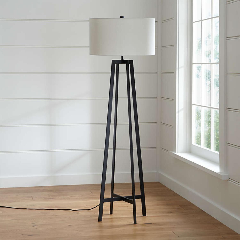 Crate & Barrel Castillo Black Floor Lamp - image-3