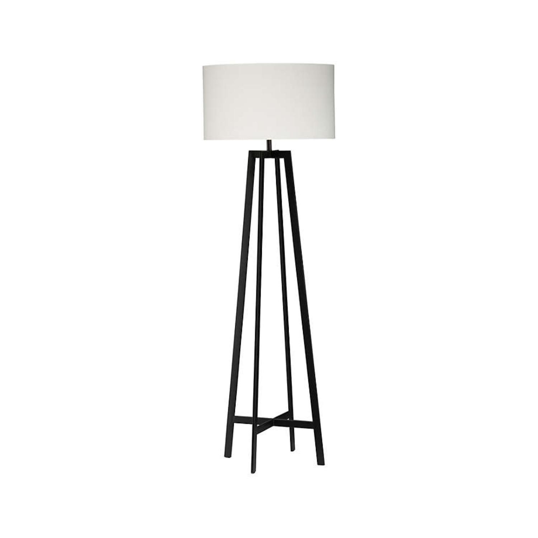 Crate & Barrel Castillo Black Floor Lamp - image-1