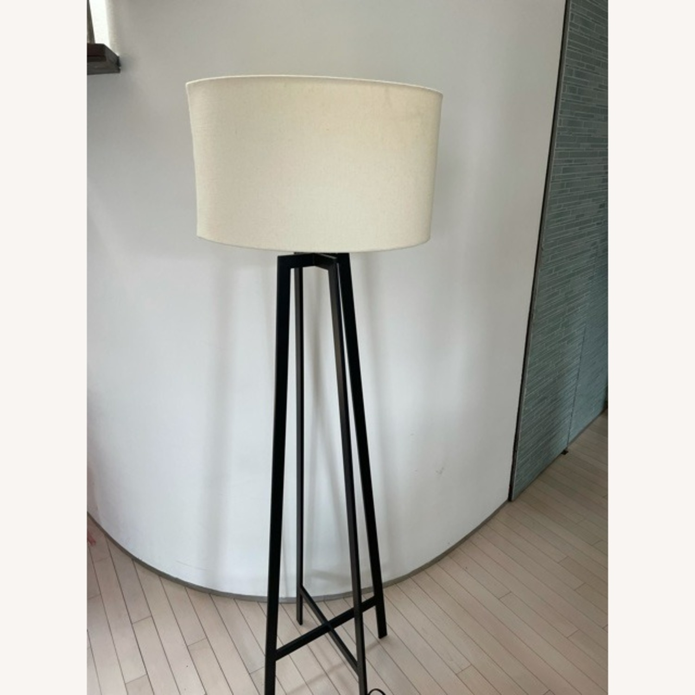 Crate & Barrel Castillo Black Floor Lamp - image-4
