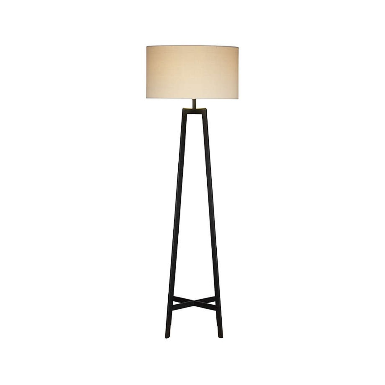 Crate & Barrel Castillo Black Floor Lamp - image-2
