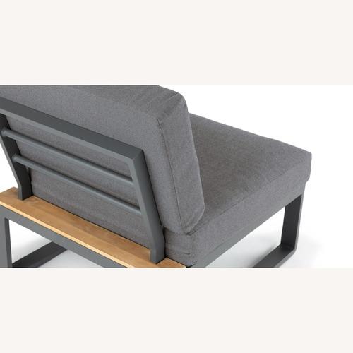 Used Article Kezia Whale Gray Armless Chair Module for sale on AptDeco